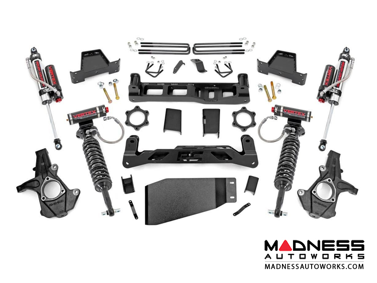 "Chevy Silverado 1500 4WD Suspension Lift Kit w/ Vertex Reservoir Coil-Overs - 7.5"" Lift"